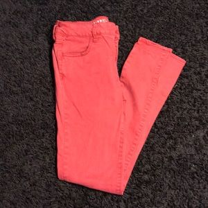 AEO Bright Red Super Stretch Jeggings